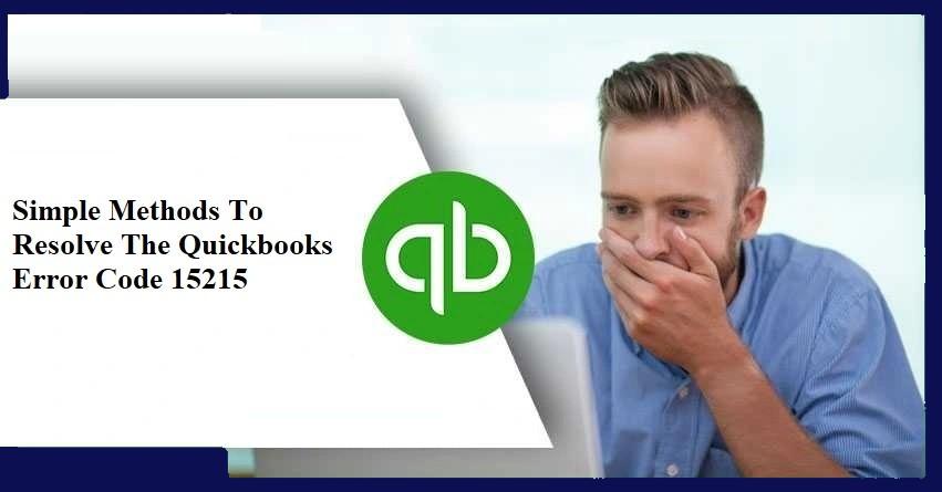 QucickBooks Error 15215